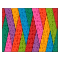Colorful Lines Pattern Rectangular Jigsaw Puzzl