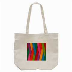 Colorful Lines Pattern Tote Bag (Cream)