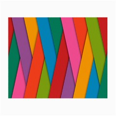 Colorful Lines Pattern Small Glasses Cloth