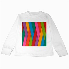 Colorful Lines Pattern Kids Long Sleeve T-Shirts