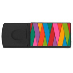 Colorful Lines Pattern USB Flash Drive Rectangular (4 GB)