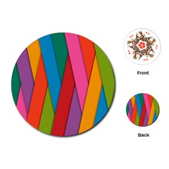 Colorful Lines Pattern Playing Cards (Round)