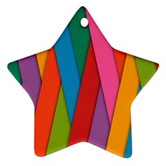 Colorful Lines Pattern Star Ornament (Two Sides)