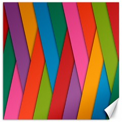Colorful Lines Pattern Canvas 12  x 12