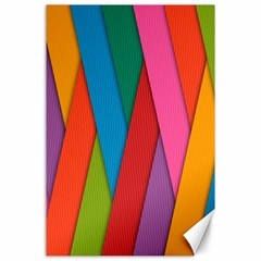 Colorful Lines Pattern Canvas 24  x 36