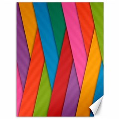 Colorful Lines Pattern Canvas 36  x 48
