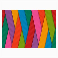 Colorful Lines Pattern Large Glasses Cloth