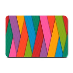 Colorful Lines Pattern Small Doormat