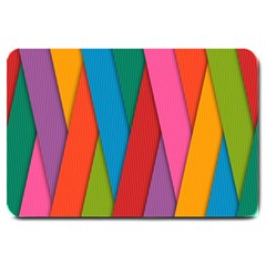 Colorful Lines Pattern Large Doormat