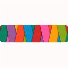 Colorful Lines Pattern Large Bar Mats
