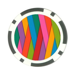 Colorful Lines Pattern Poker Chip Card Guard