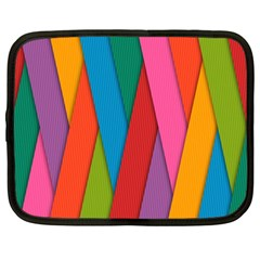 Colorful Lines Pattern Netbook Case (Large)
