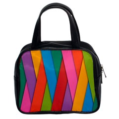 Colorful Lines Pattern Classic Handbags (2 Sides)