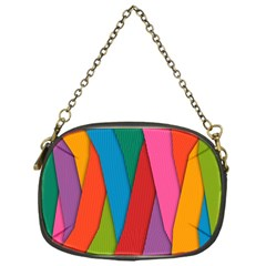 Colorful Lines Pattern Chain Purses (One Side)