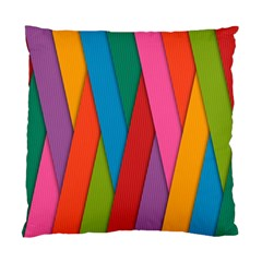 Colorful Lines Pattern Standard Cushion Case (One Side)