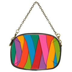 Colorful Lines Pattern Chain Purses (Two Sides)