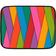 Colorful Lines Pattern Double Sided Fleece Blanket (Mini)