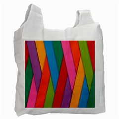 Colorful Lines Pattern Recycle Bag (Two Side)