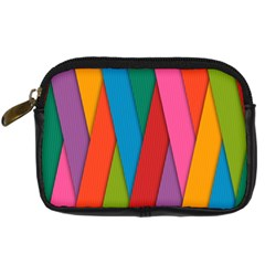 Colorful Lines Pattern Digital Camera Cases
