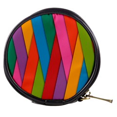 Colorful Lines Pattern Mini Makeup Bags