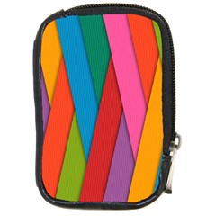 Colorful Lines Pattern Compact Camera Cases
