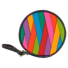 Colorful Lines Pattern Classic 20-CD Wallets