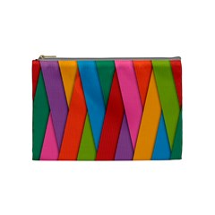 Colorful Lines Pattern Cosmetic Bag (Medium)
