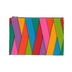 Colorful Lines Pattern Cosmetic Bag (Large)