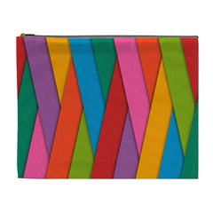 Colorful Lines Pattern Cosmetic Bag (XL)