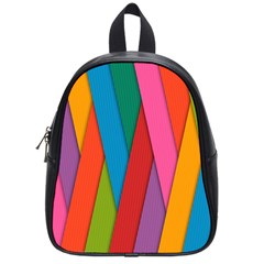 Colorful Lines Pattern School Bags (Small)