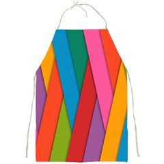 Colorful Lines Pattern Full Print Aprons