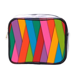Colorful Lines Pattern Mini Toiletries Bags