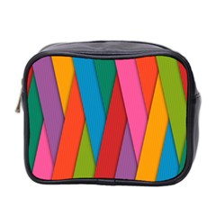 Colorful Lines Pattern Mini Toiletries Bag 2-Side