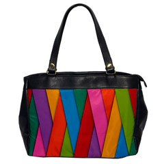 Colorful Lines Pattern Office Handbags