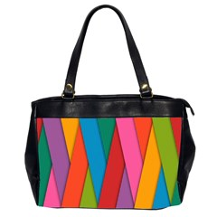 Colorful Lines Pattern Office Handbags (2 Sides)