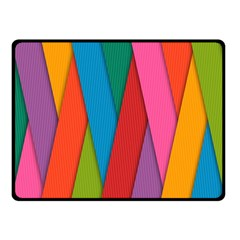 Colorful Lines Pattern Fleece Blanket (Small)