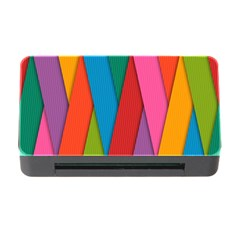 Colorful Lines Pattern Memory Card Reader with CF