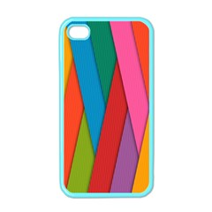 Colorful Lines Pattern Apple iPhone 4 Case (Color)