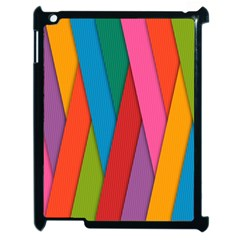 Colorful Lines Pattern Apple iPad 2 Case (Black)