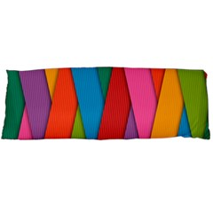Colorful Lines Pattern Body Pillow Case (Dakimakura)