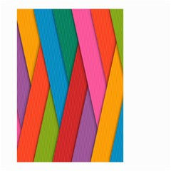 Colorful Lines Pattern Small Garden Flag (Two Sides)