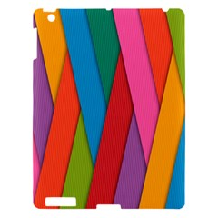 Colorful Lines Pattern Apple iPad 3/4 Hardshell Case