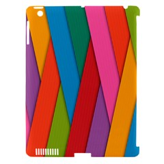 Colorful Lines Pattern Apple iPad 3/4 Hardshell Case (Compatible with Smart Cover)