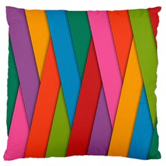 Colorful Lines Pattern Large Cushion Case (two Sides)