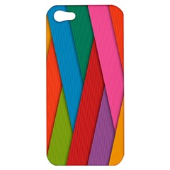 Colorful Lines Pattern Apple iPhone 5 Hardshell Case