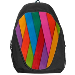 Colorful Lines Pattern Backpack Bag