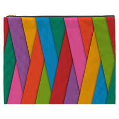 Colorful Lines Pattern Cosmetic Bag (XXXL)