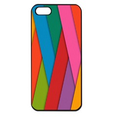 Colorful Lines Pattern Apple iPhone 5 Seamless Case (Black)