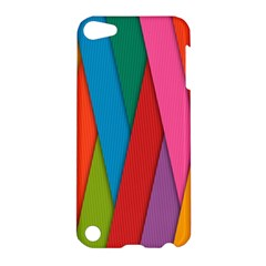 Colorful Lines Pattern Apple iPod Touch 5 Hardshell Case
