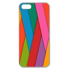 Colorful Lines Pattern Apple Seamless iPhone 5 Case (Clear)